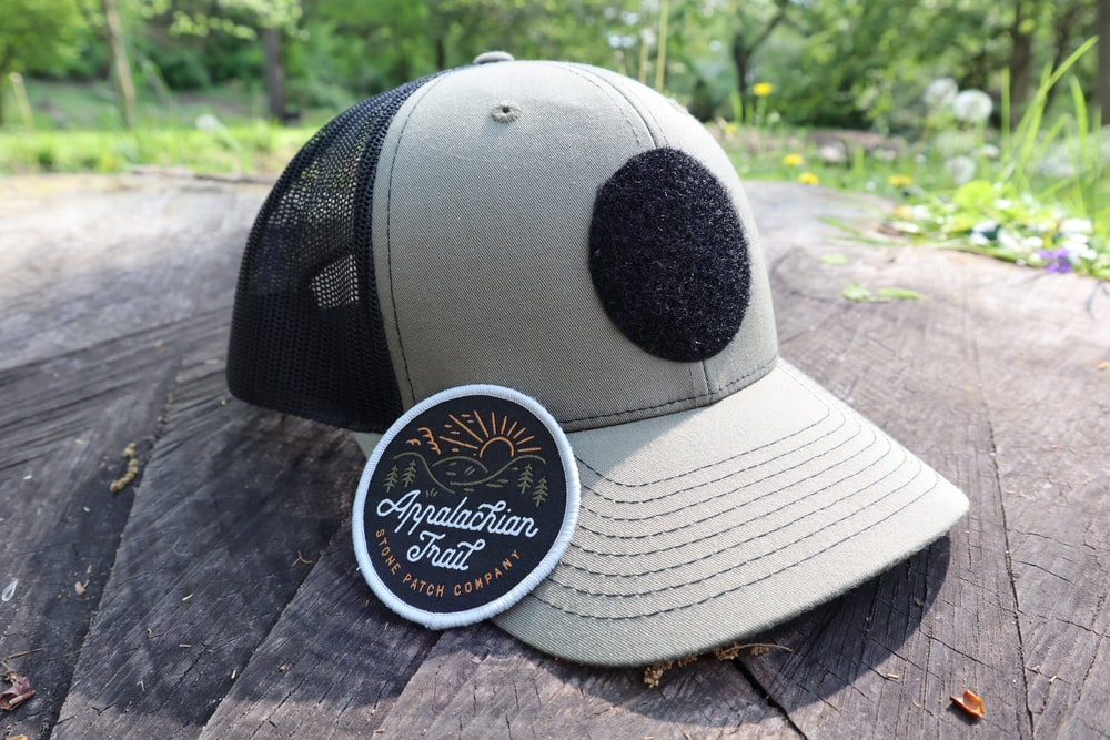 white and black baseball cap