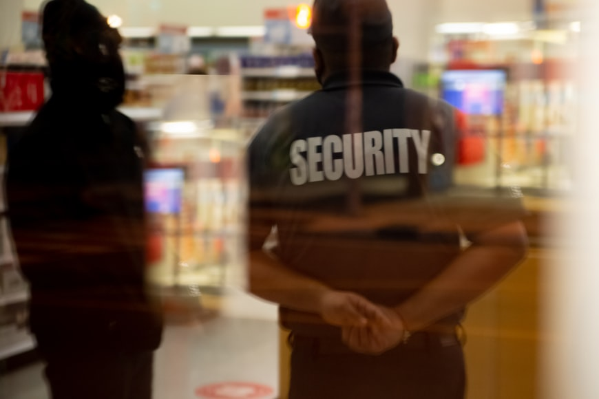 Security guard in a retail store.