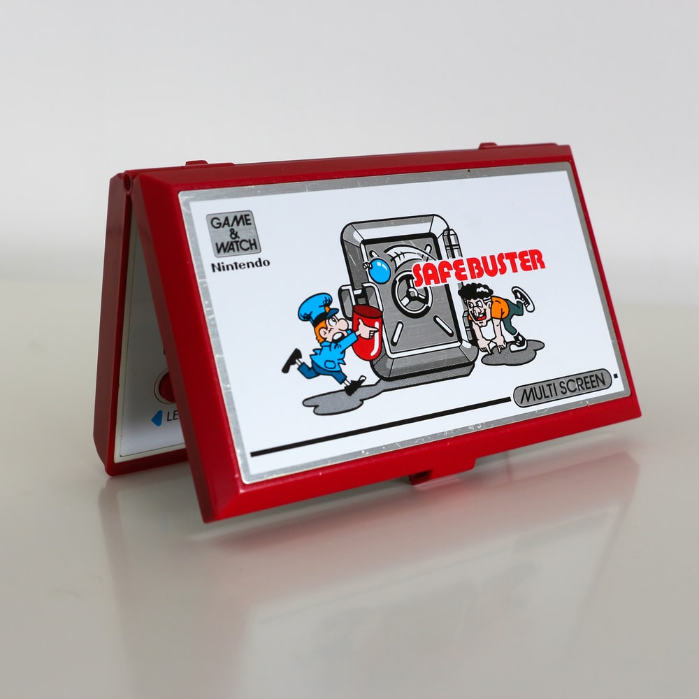 red and white mickey mouse print box