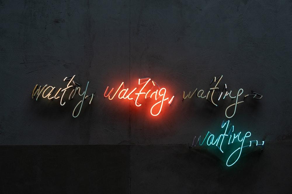 happy new year neon light signage