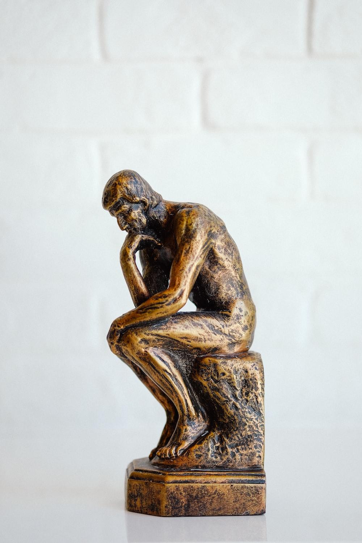 black statue of a man