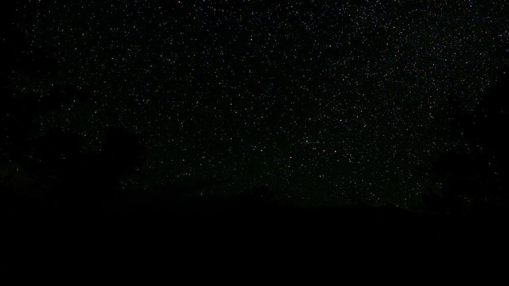 black and white starry night