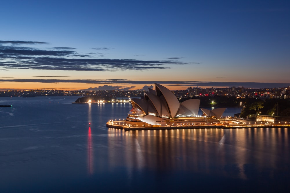sydney opera house in australia during night time