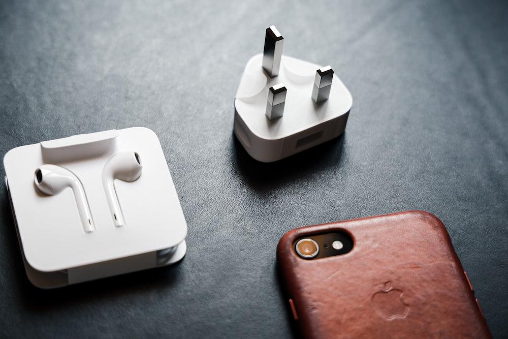 white and orange iphone case