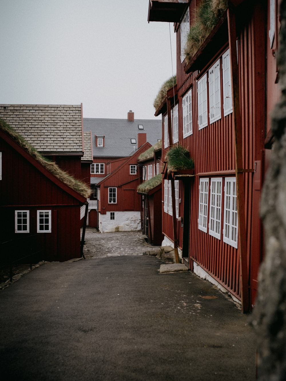 red and white wooden house during daytime