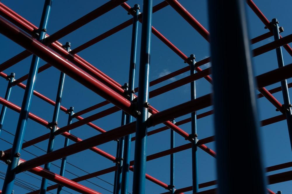 red metal frame during daytime