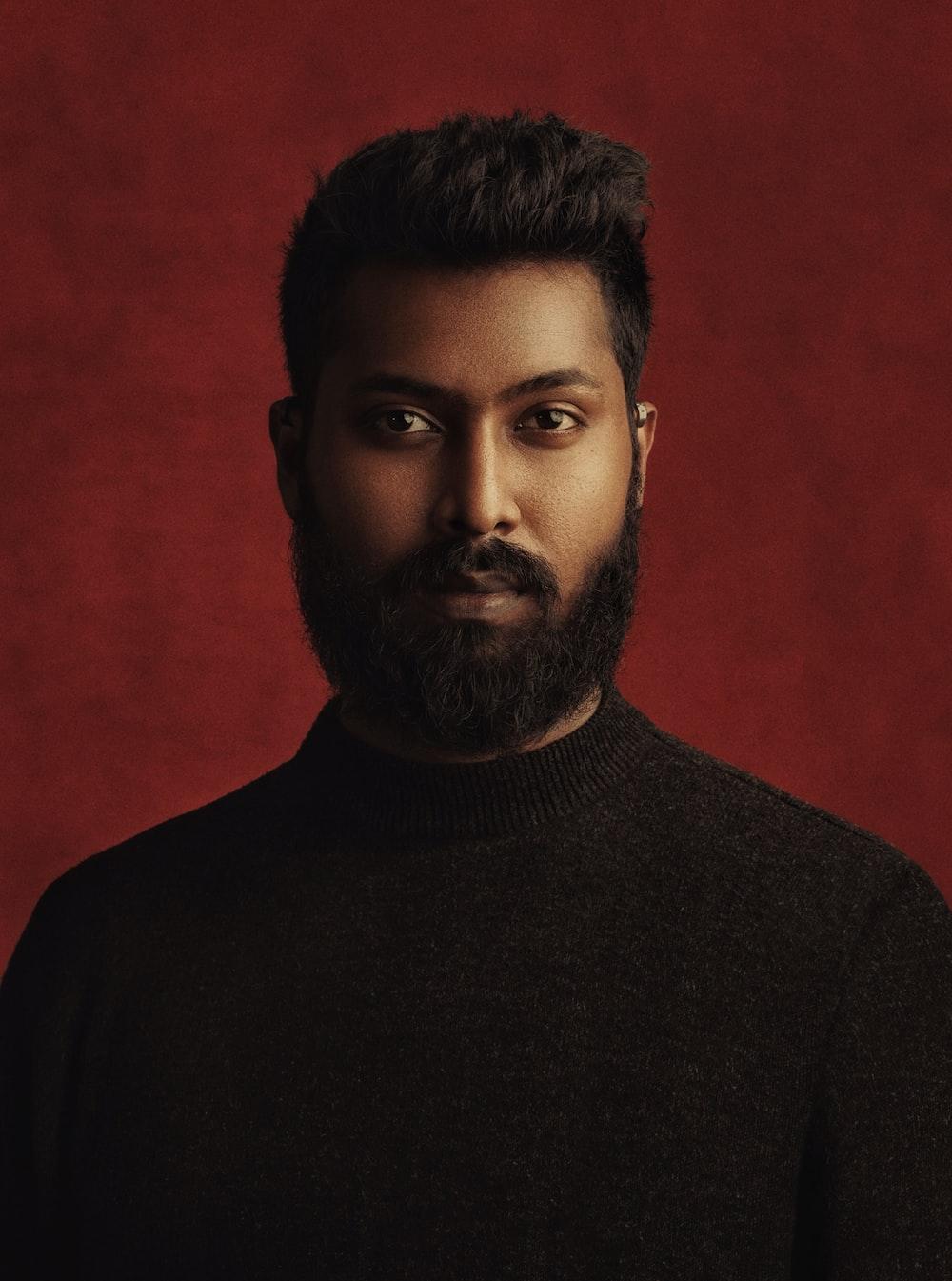man in black turtleneck shirt