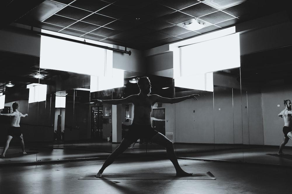 black and white exercise equipment