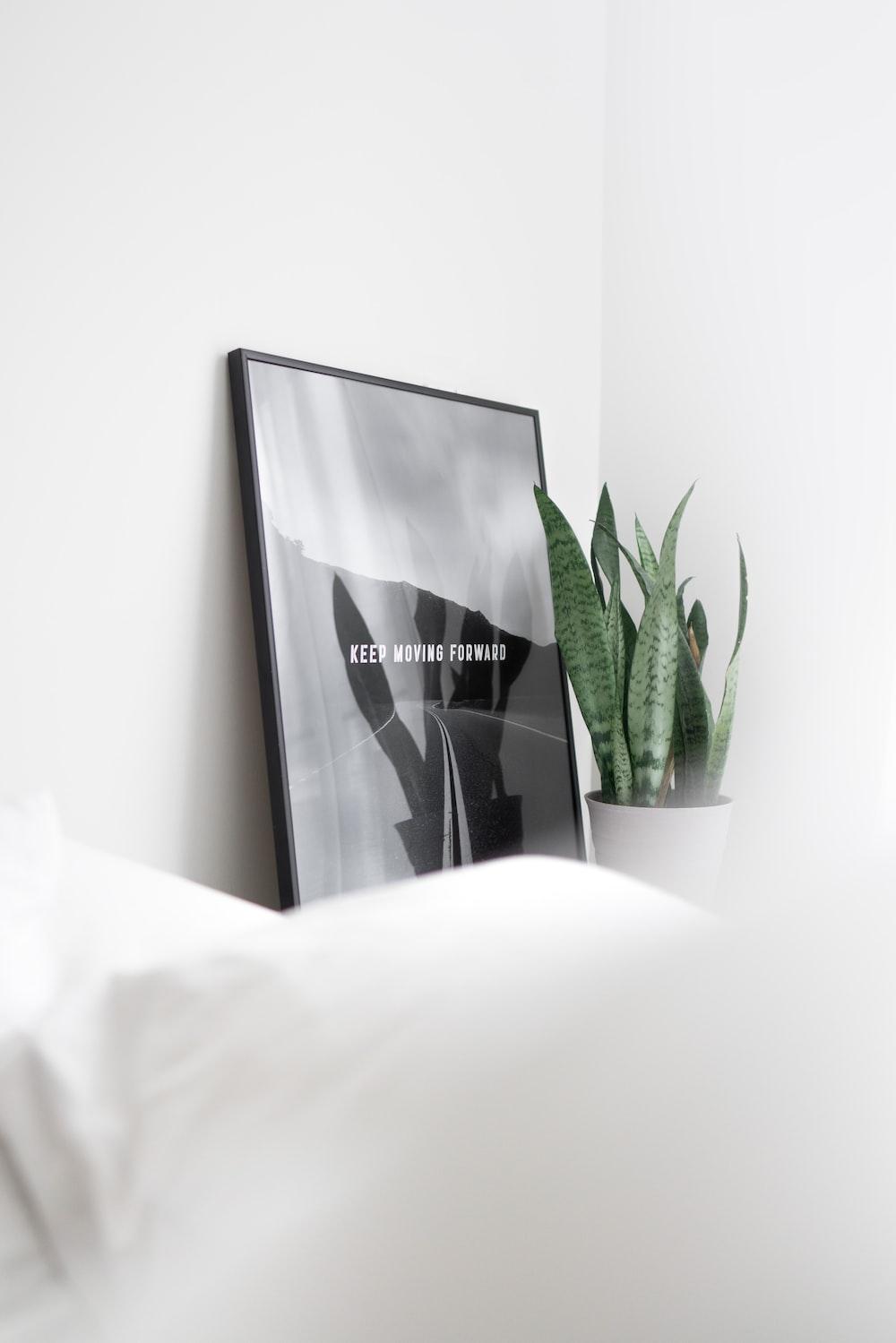 black and white box on white textile