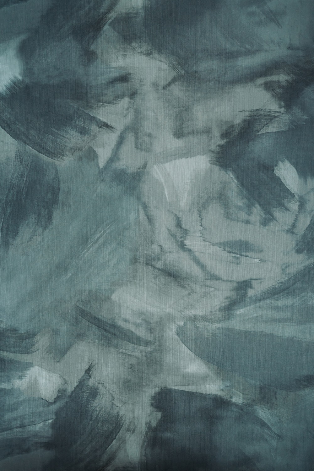 white and gray abstract painting