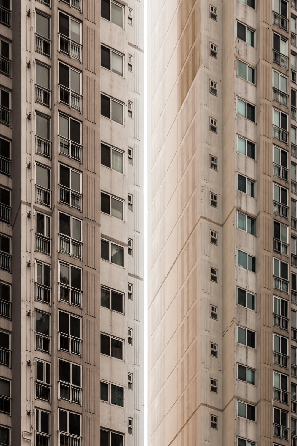 brown and white concrete building