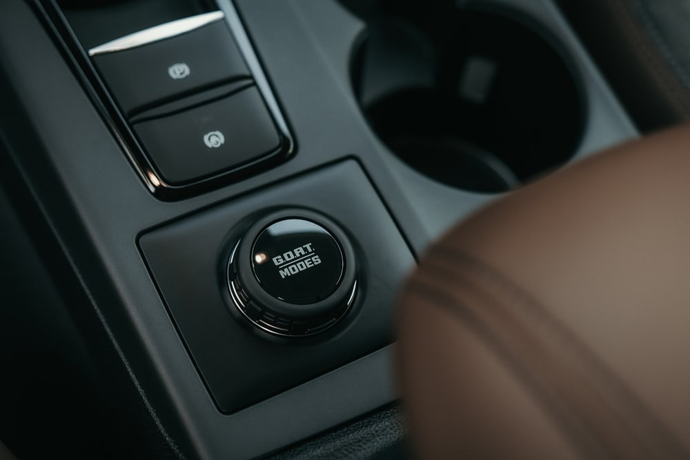 black and gray car control panel