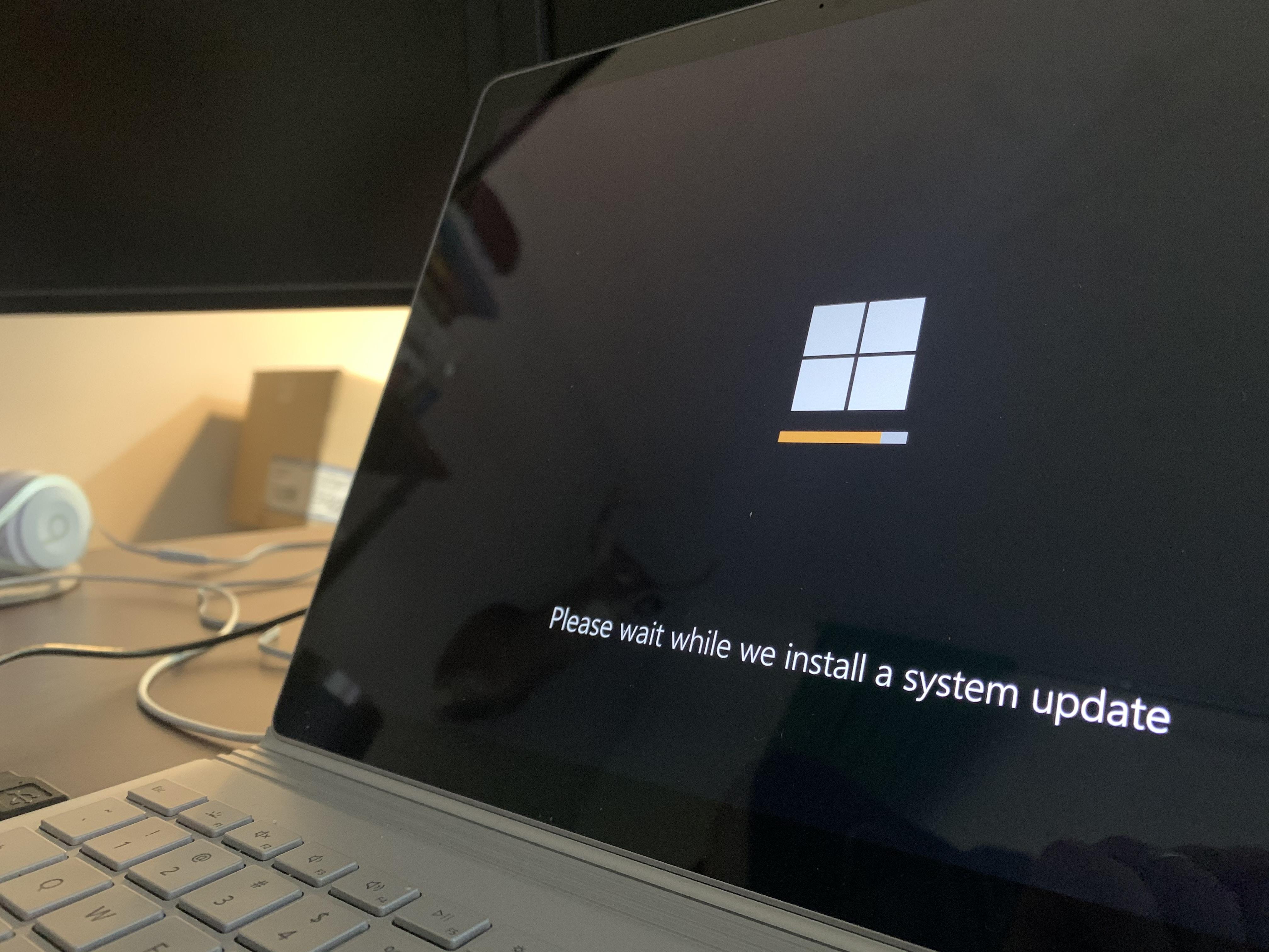 Microsoft Windows update screen