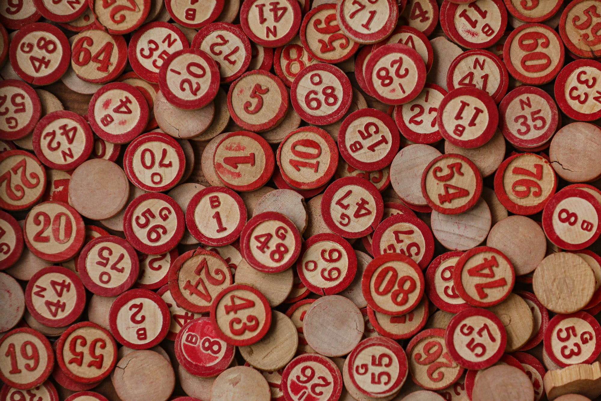 Old Bingo tiles found in my grandfathers house. Knew these would come in handy some day. BINGO!