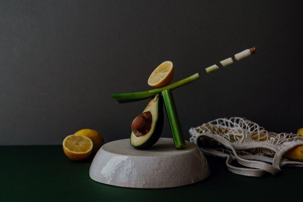 sliced apple fruit on white round plate