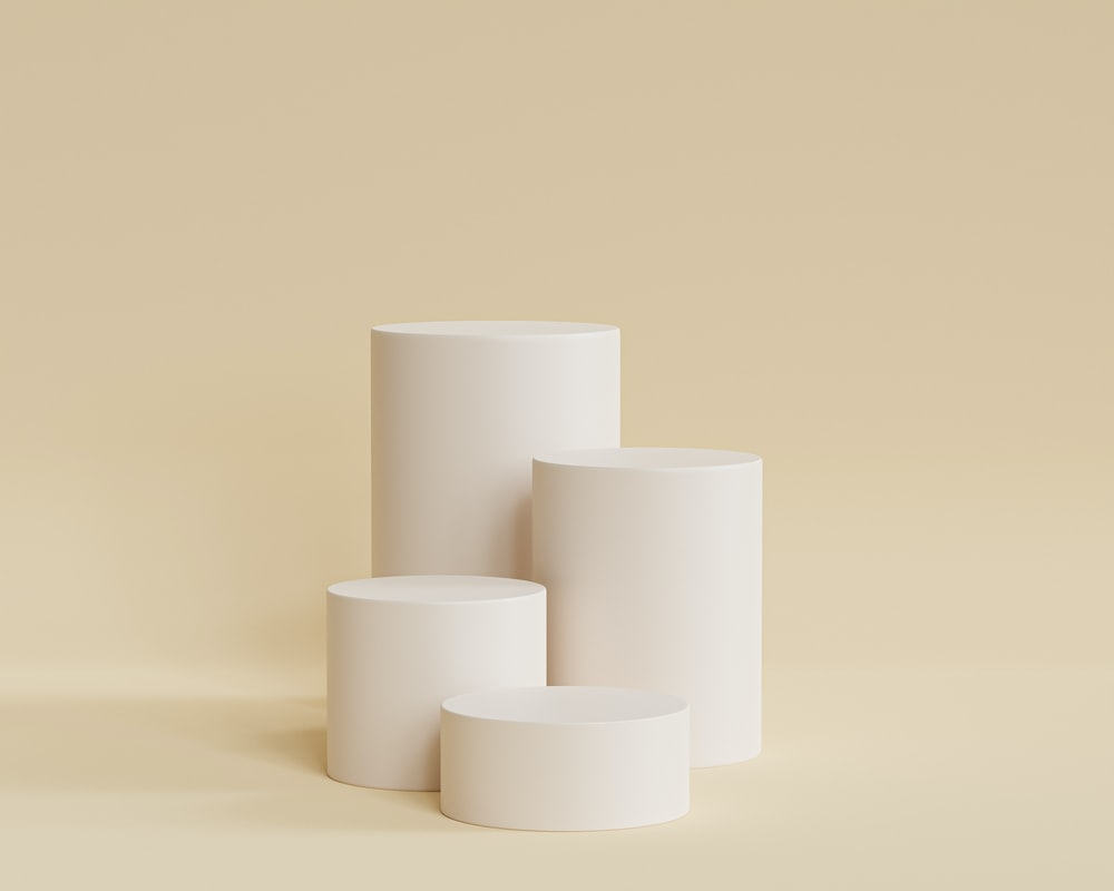 white paper roll on white table
