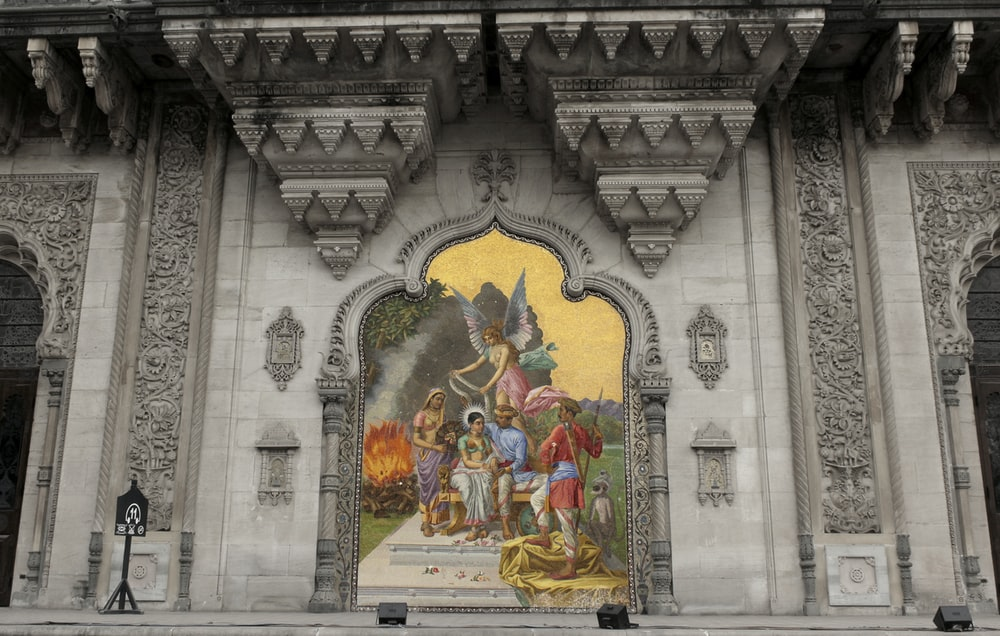 jesus christ and virgin mary wall art