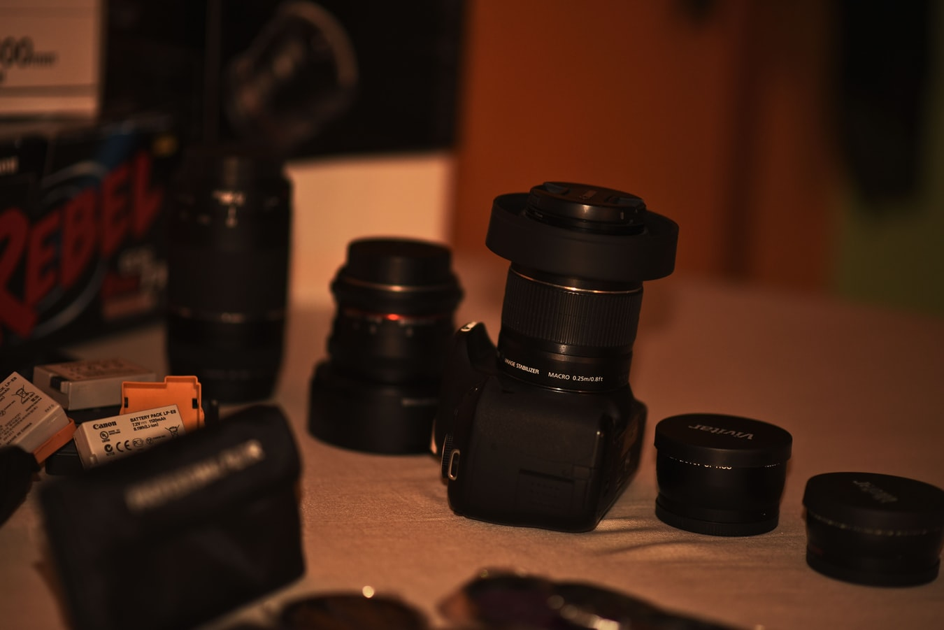 🌳Define cual es tu objetivo. Cámara y diferentes objetivos junto a accesorios fotográficos de creador de contenidos Dani Guitarra.