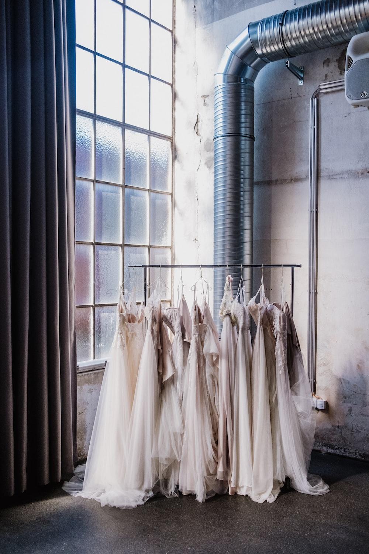 white window curtain near white window