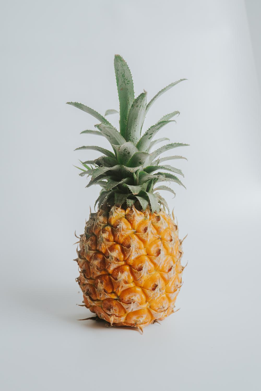 pineapple fruit on white table