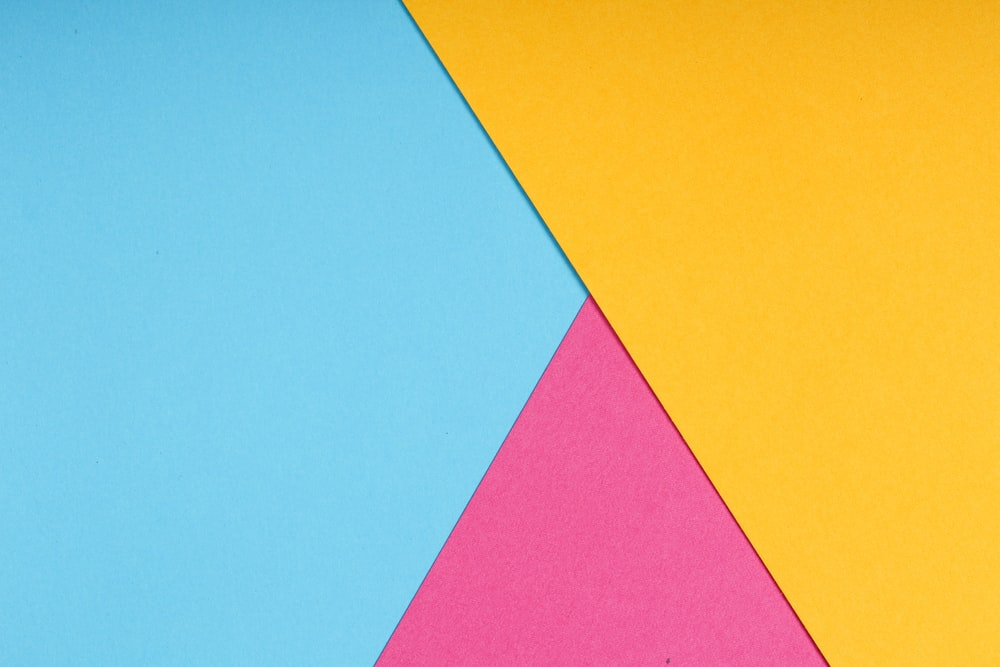 yellow pink and blue color