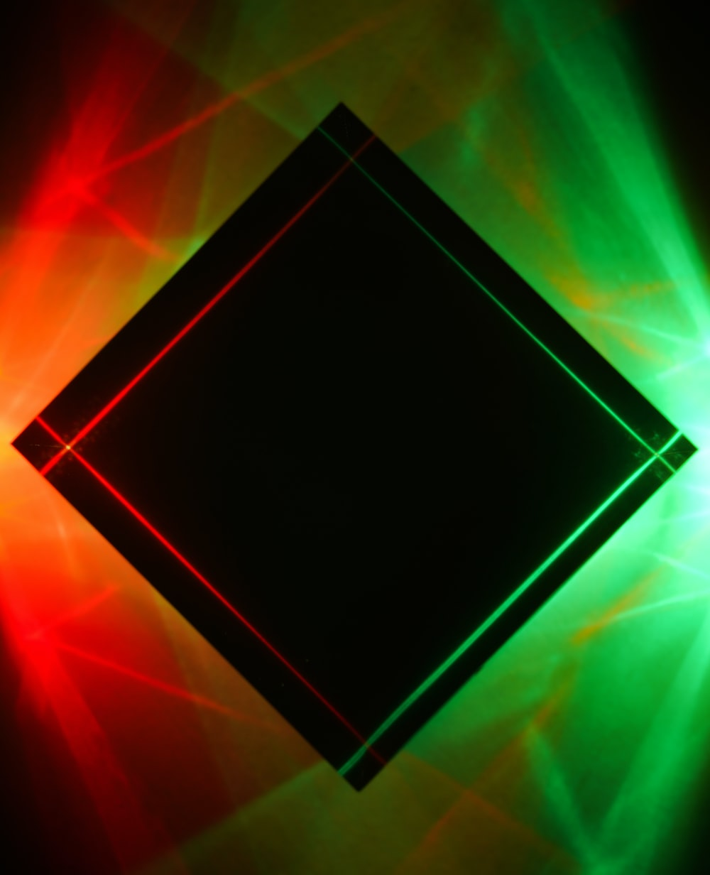 red green and black square illustration