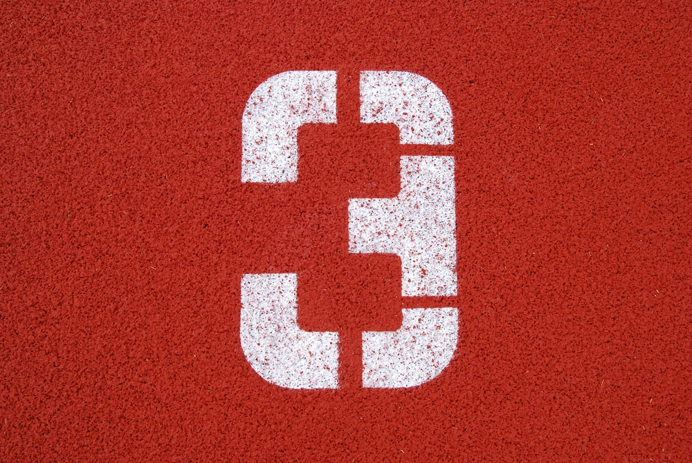 red and white letter m