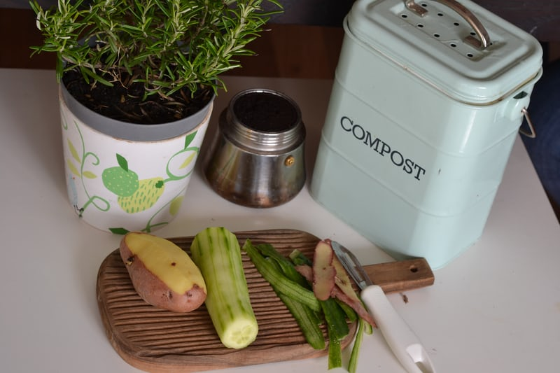 deal with food waste through composting, dealing with food waste