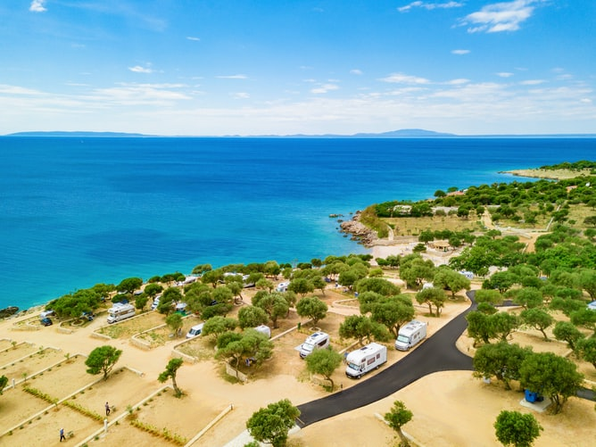 Pag island in Croatia