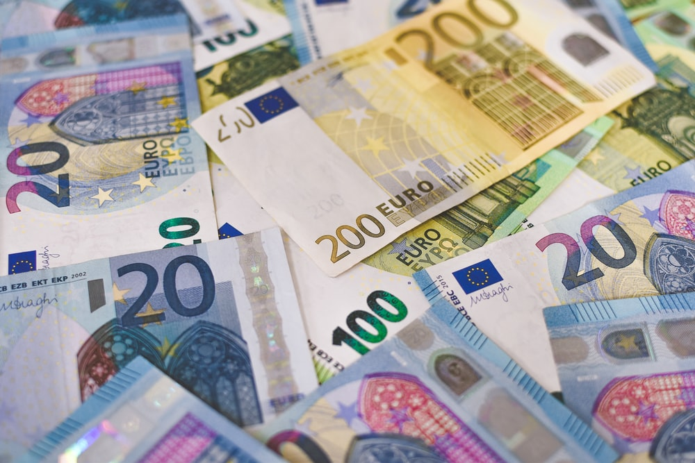 10 euro on white printer paper