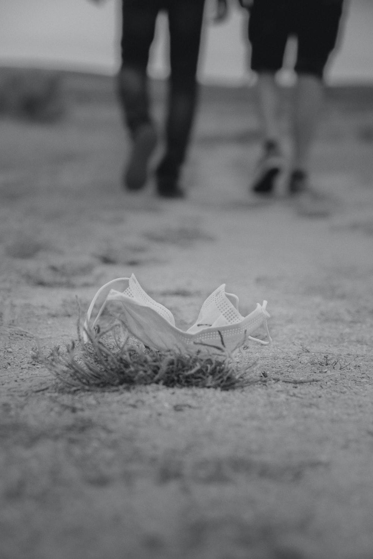 white plastic bag on ground