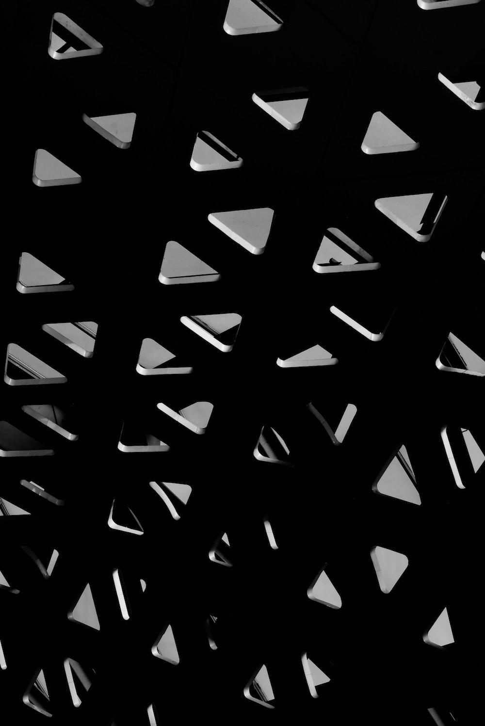 black and white checkered illustration