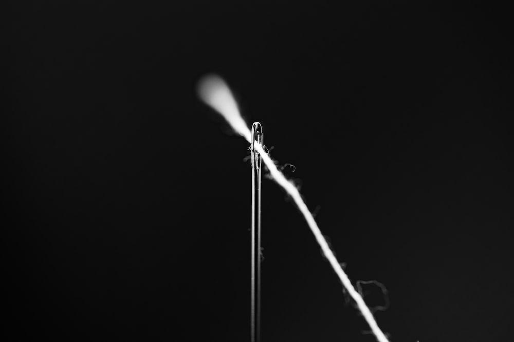 white light in dark room