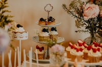 cupcakes on white metal rack