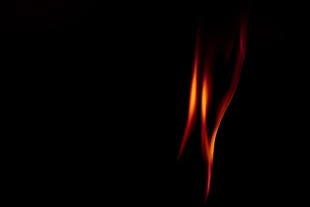 red and orange flame illustration