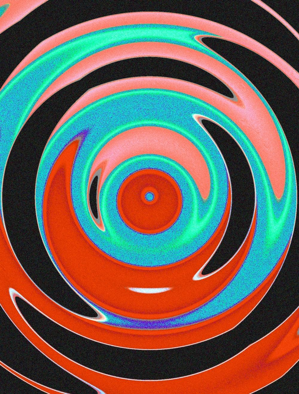 blue and white spiral illustration