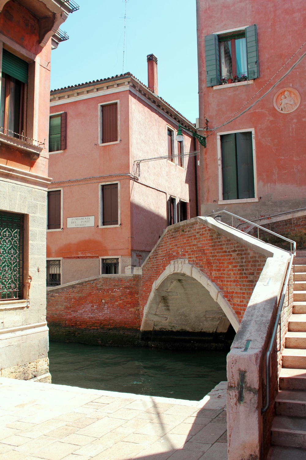 brown brick building beside river during daytime