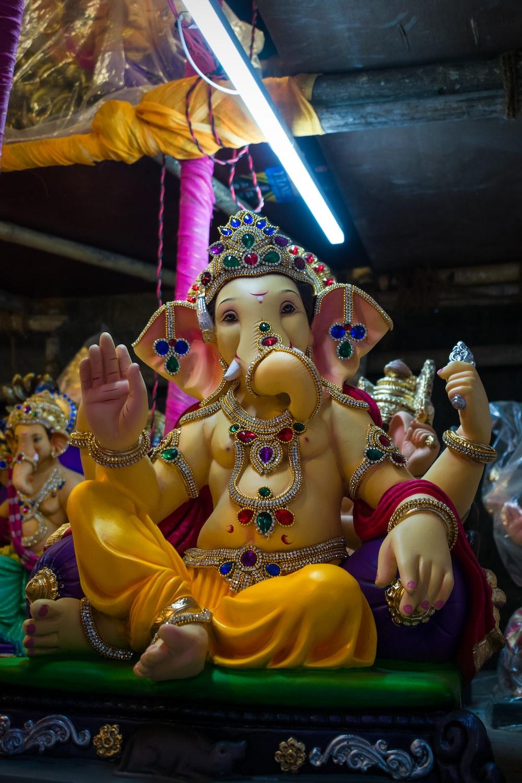hindu deity figurine in a room