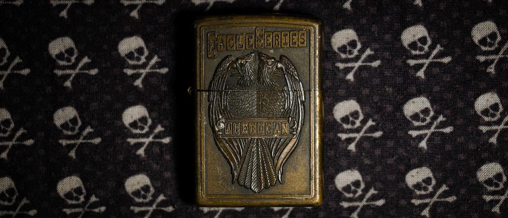 gold and black rectangular box
