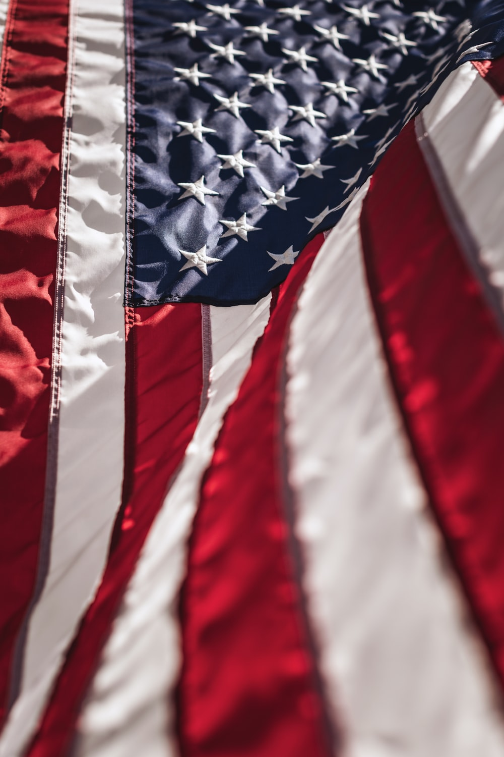 red white and blue textile