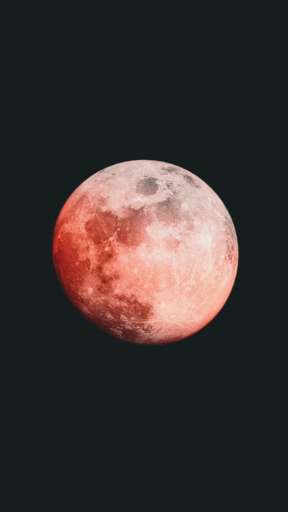 red and white moon illustration
