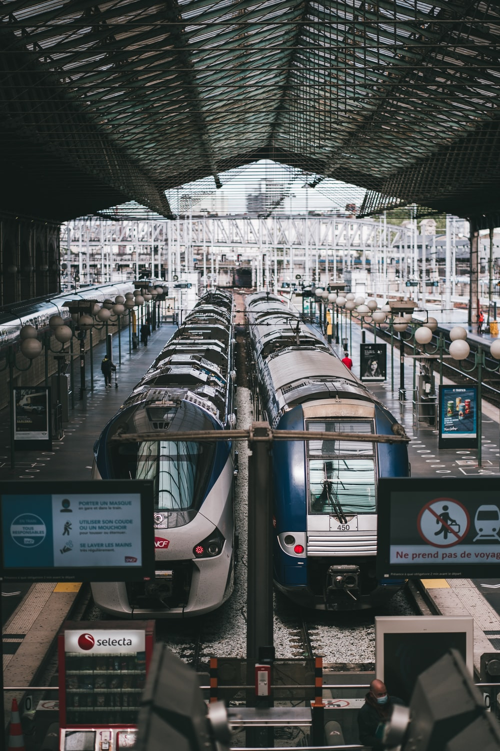 black and gray train in train station