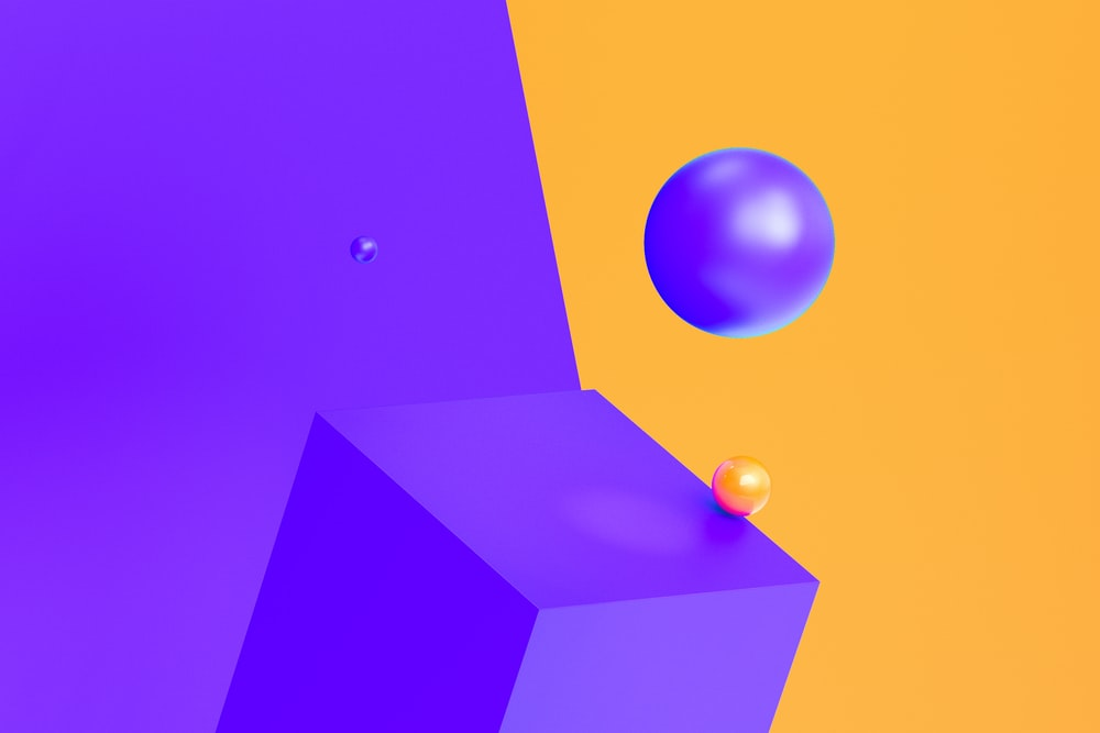blue and yellow 3 d illustration