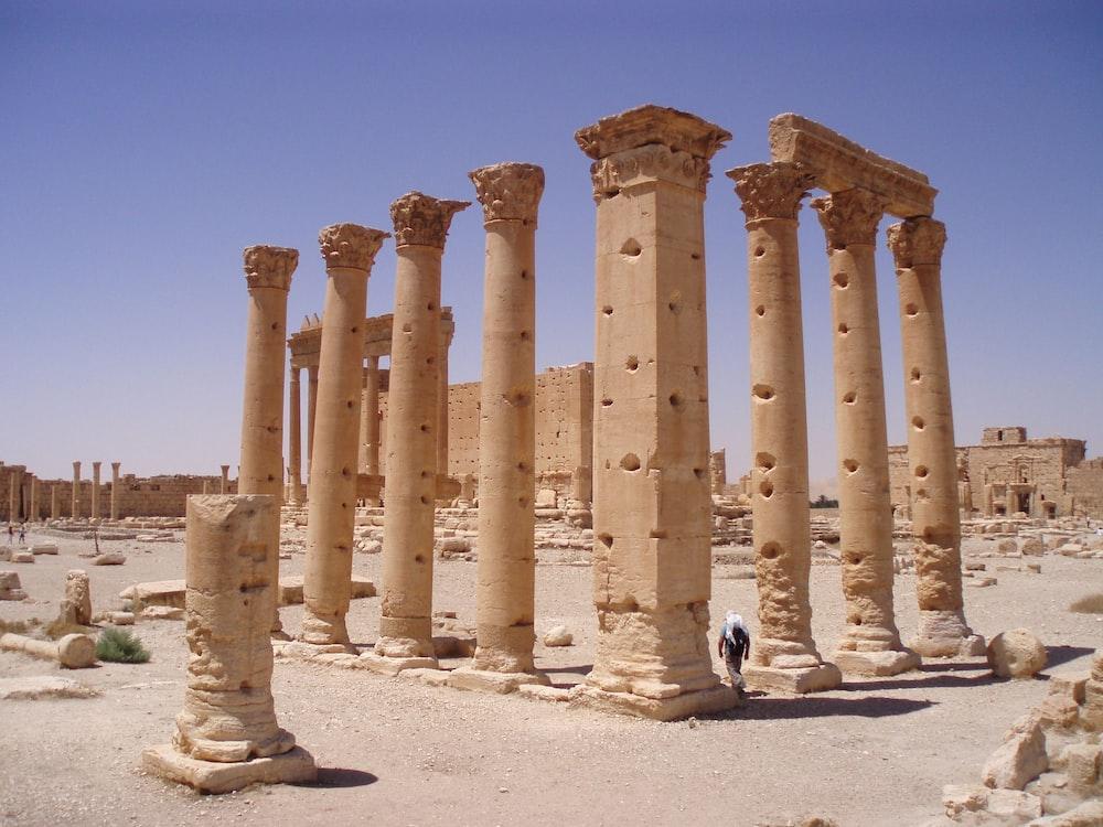 brown concrete pillars during daytime
