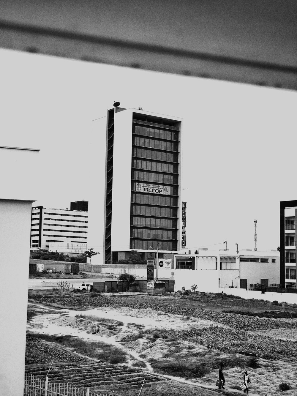 grayscale photo of building during daytime