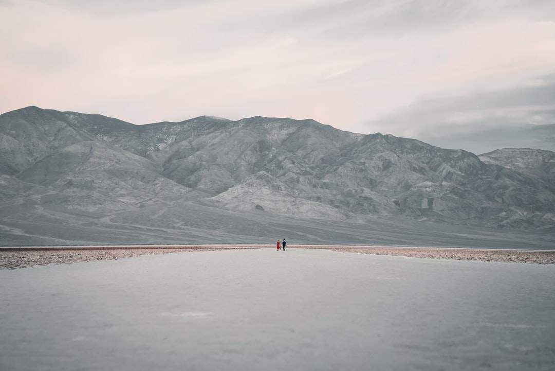 person walking on brown sand near body of water during daytime