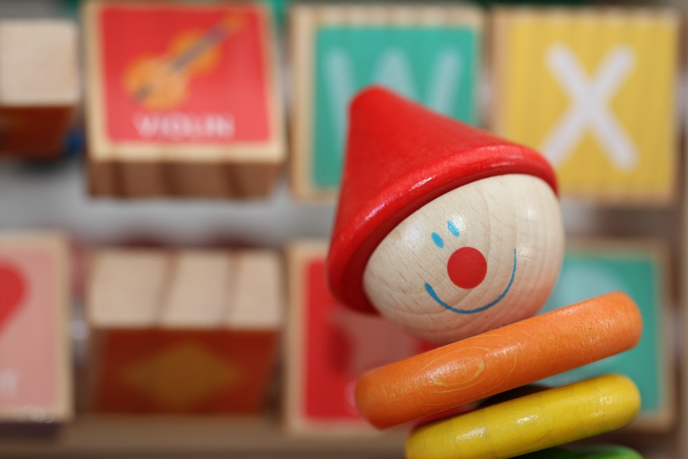 red and white plastic toy