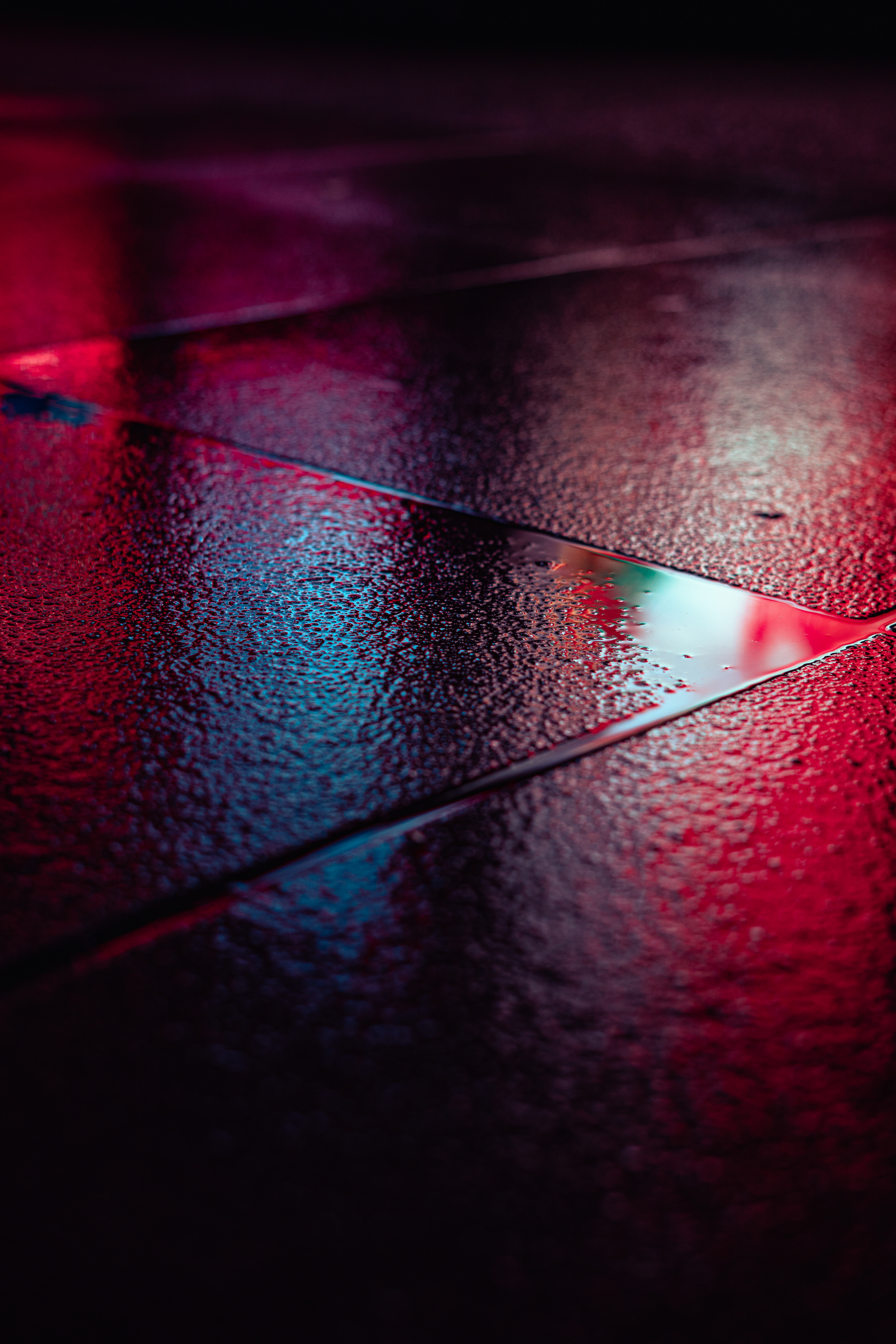 red light on black surface