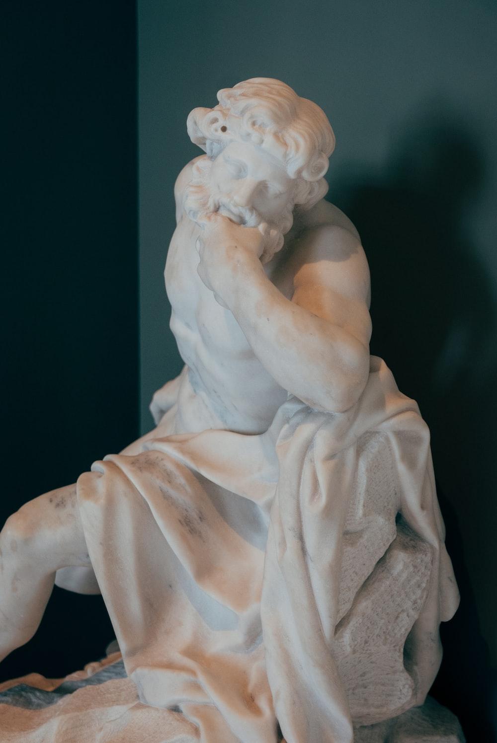 woman in white dress figurine