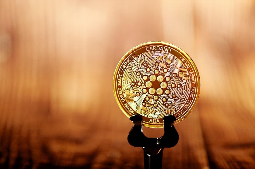 gold and black round decor